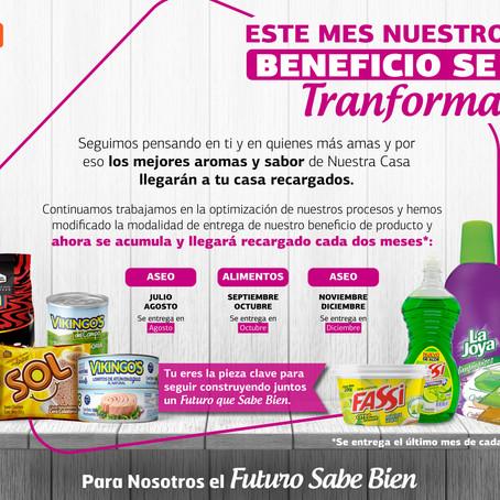 ¡Nuestro Beneficio de producto se Transforma!
