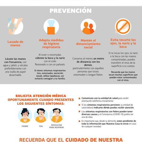 ¡La prevención y el cuidado de nuestra salud es tarea de todos!