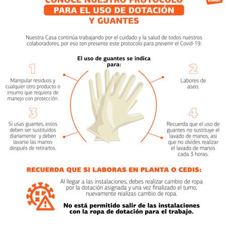 Conoce nuestro protocolo de uso de guantes y dotación