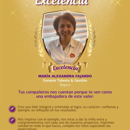 ¡Te presentamos a nuestra embajadora de Excelencia!