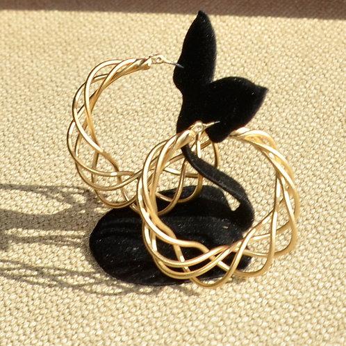 Mesh hoop earrings