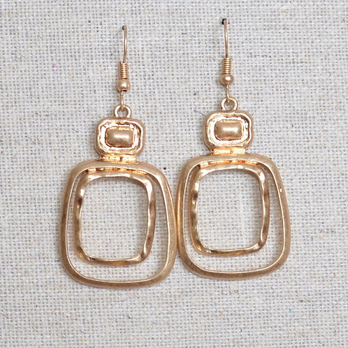 Double rectangular earrings