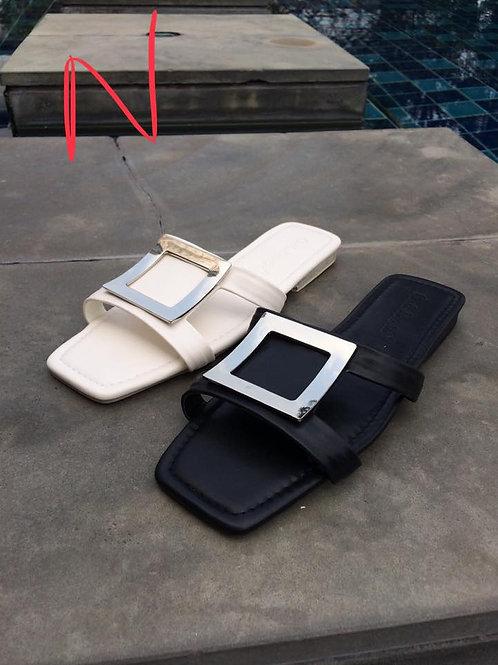 Square Silver Sandal