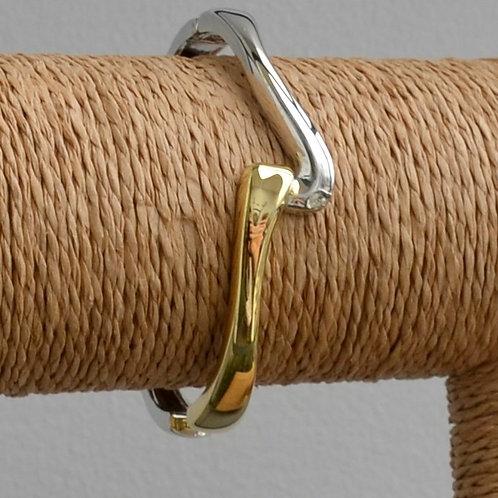 Two tone linked bracelet