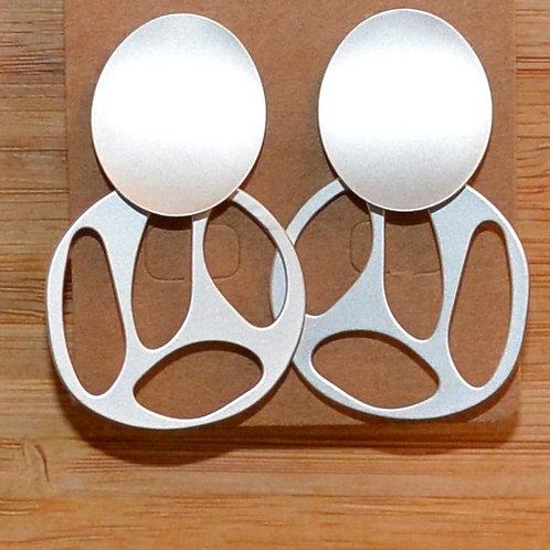 Double Circle Cutout earrings