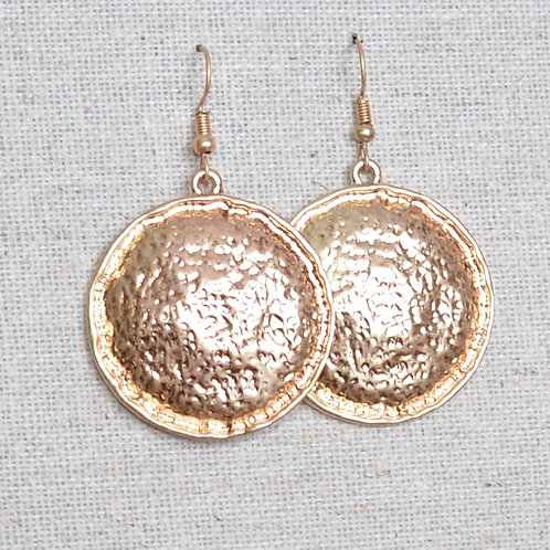 Hammered gong earrings