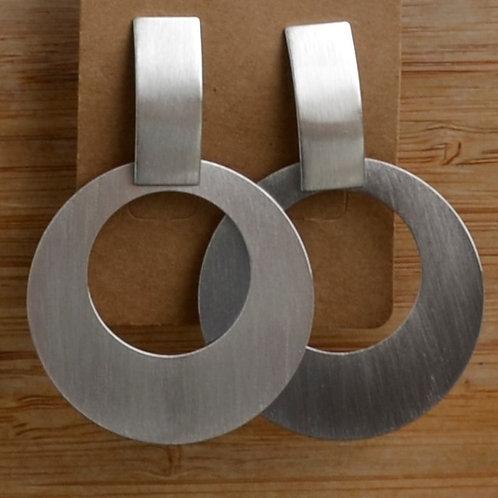 Tab & Circle earrings