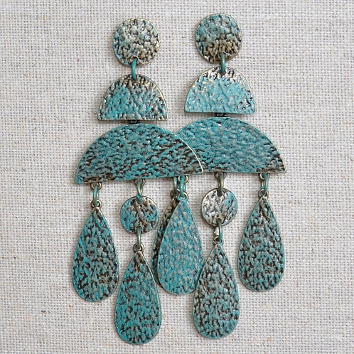 Hammered chandelier earrings