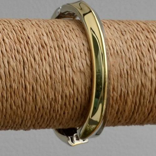 Two tone simple bracelet