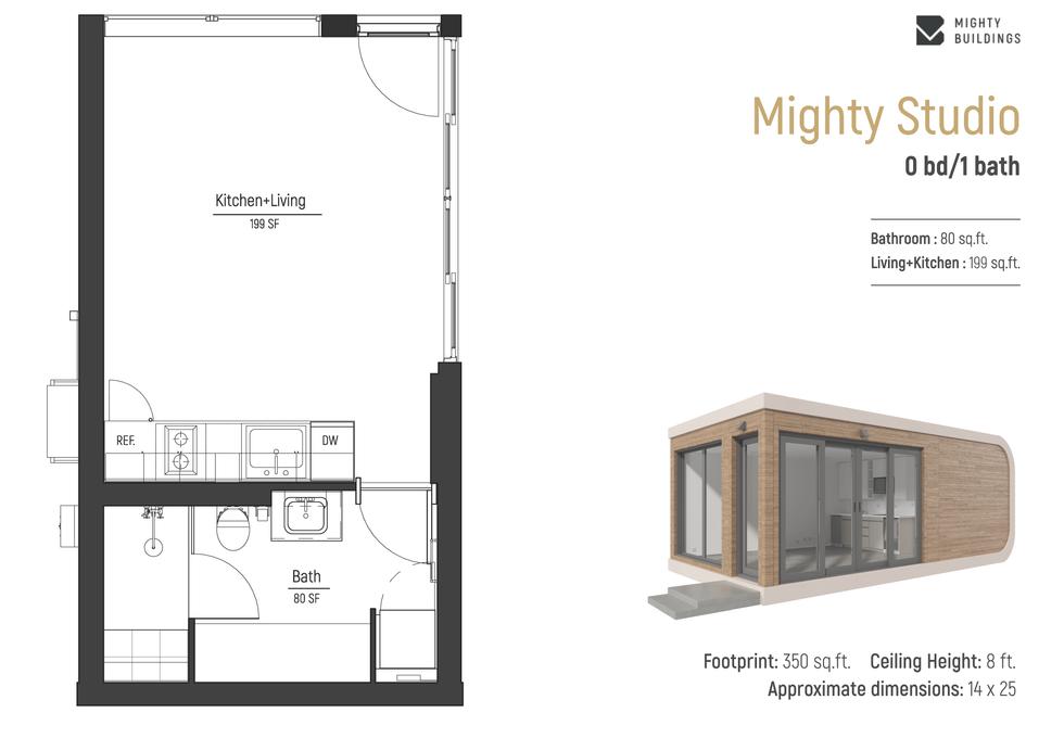 Mighty Studio Floorplan