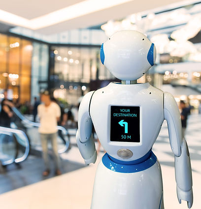 Smart retail , robot assistant , robo ad