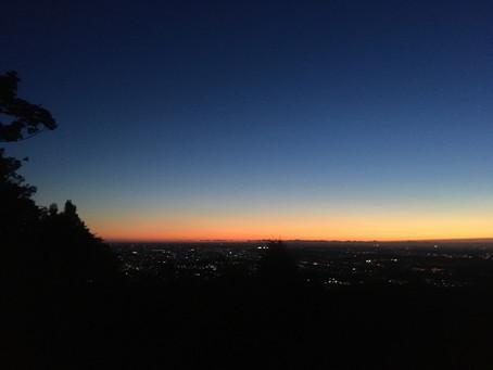 Sunrise at Mt. Takao