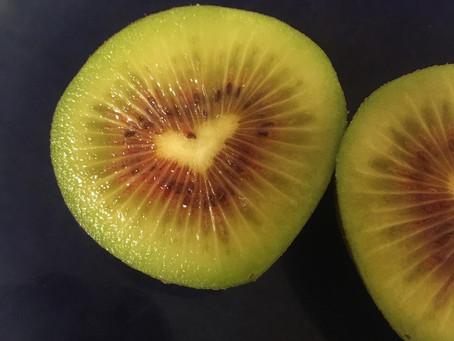 Happiness inside a kiwifruit