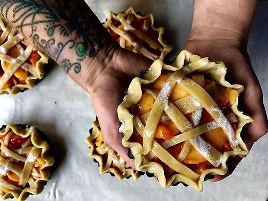 Pie and ink. These little pies will be b