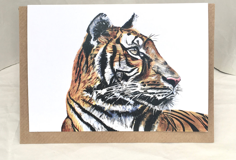 Greeting Card Tommy The Tiger