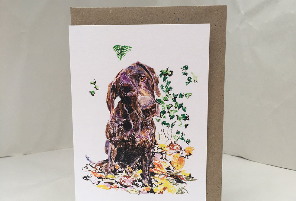 Greeting Card Polly The Pointer