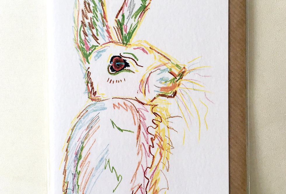 Greeting Card Horatio The Hare