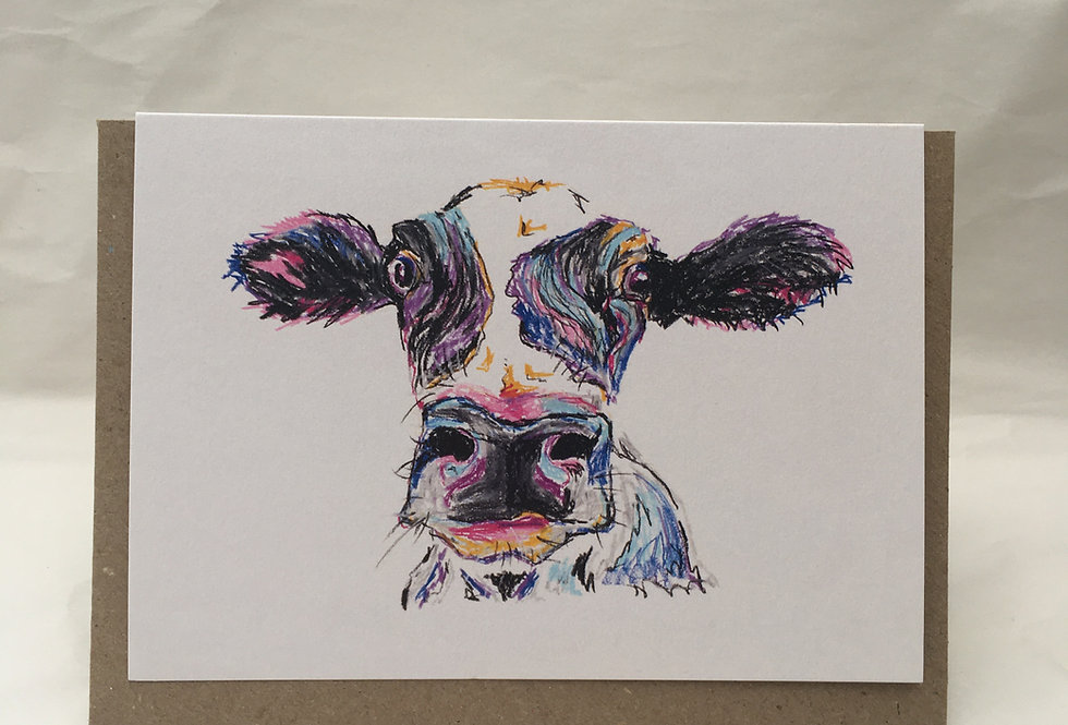 Greeting Card Claudia The Cow