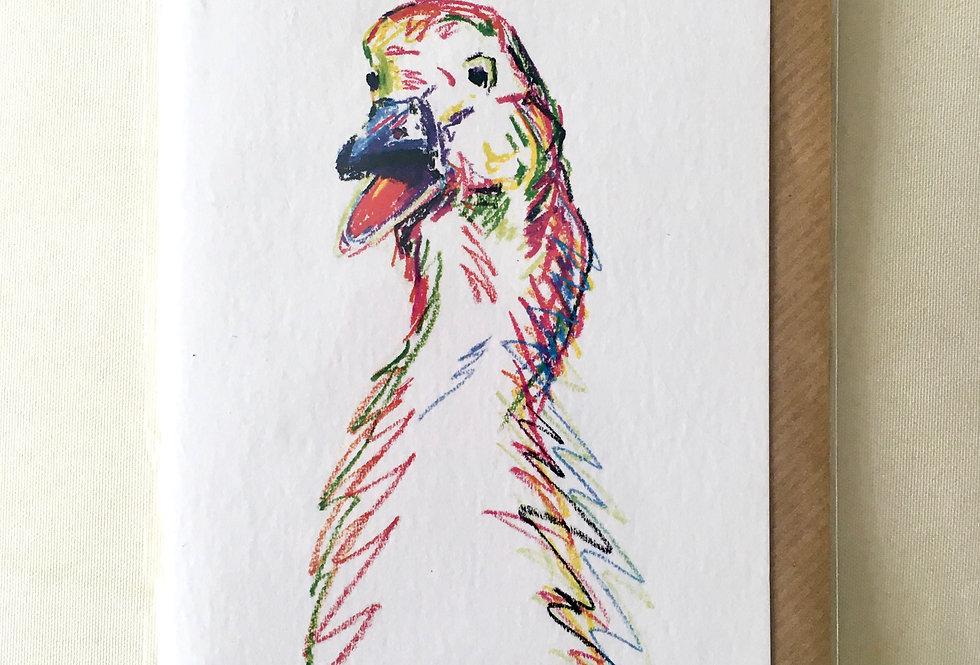 Greeting Card Gini The Goose