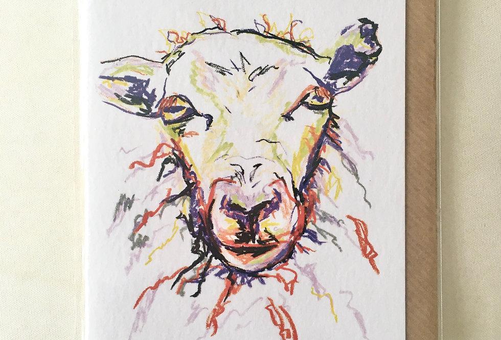 Greeting Card Samantha The Sheep