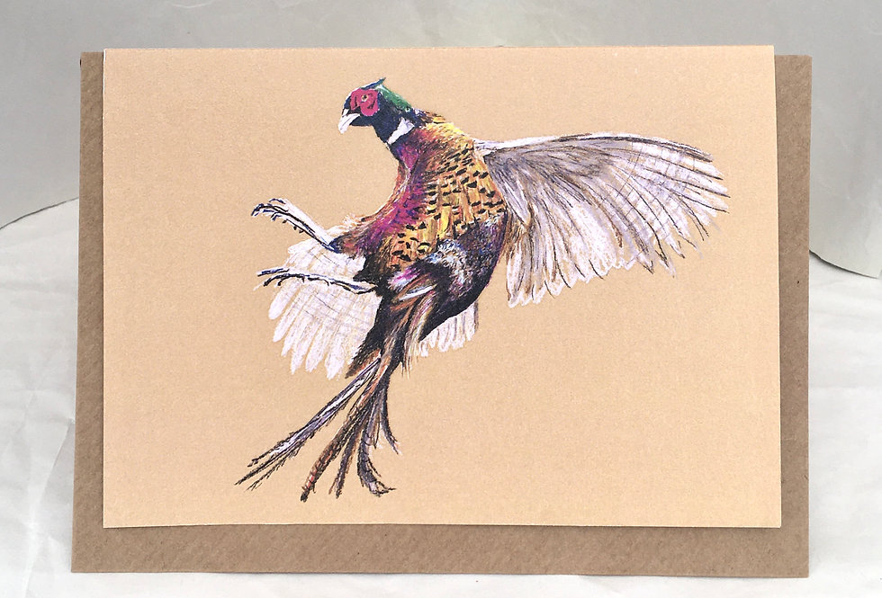 Greeting Card Phineas The Pheasant