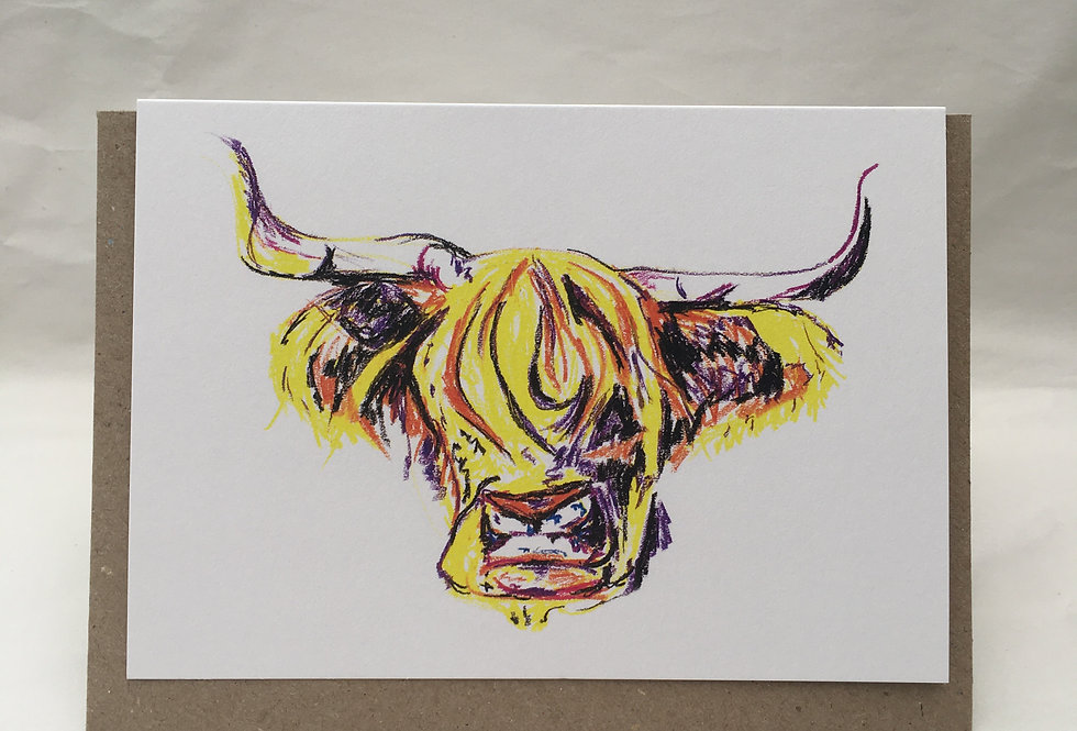 Greeting Card Harry The Highland