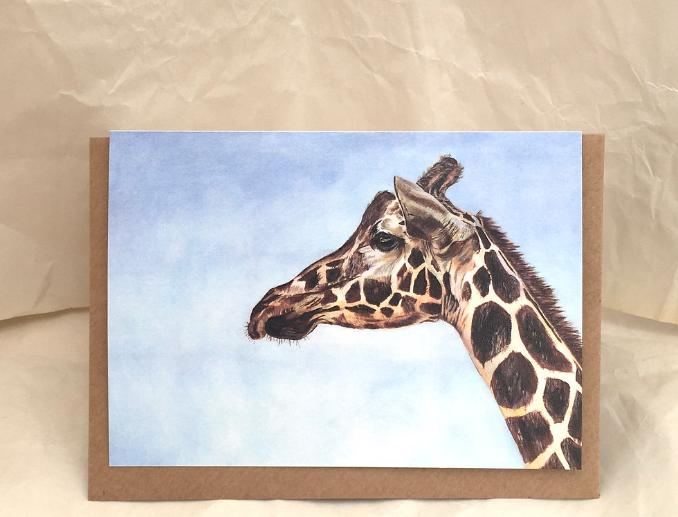 Greeting Card George The Giraffe