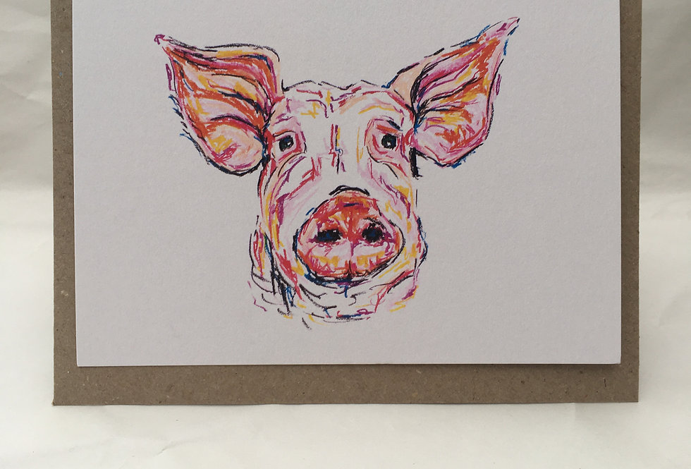 Greeting Card Peter The Pig