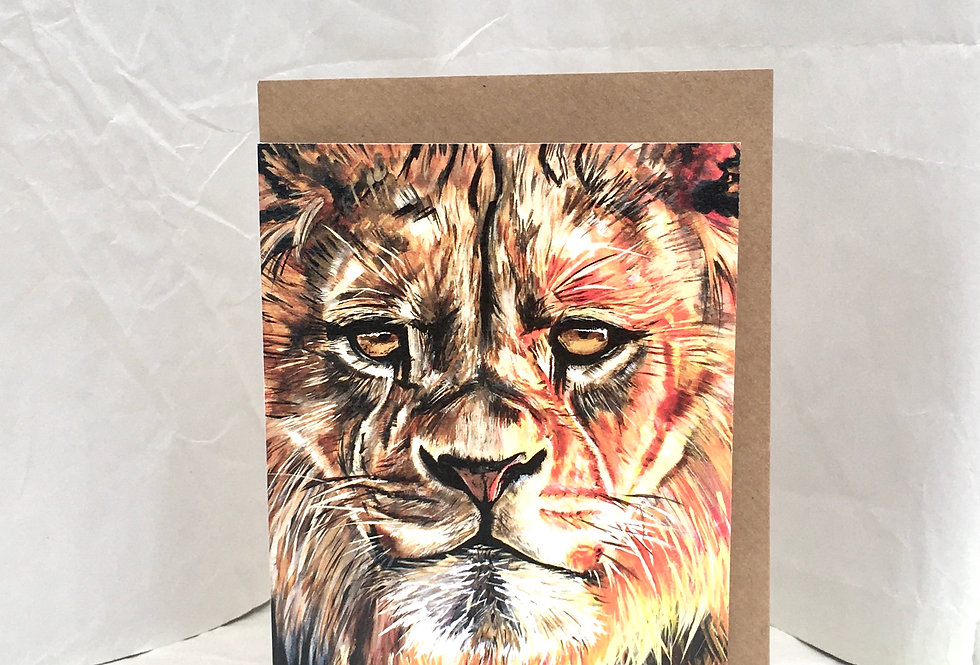 Greeting Card Leon The Lion