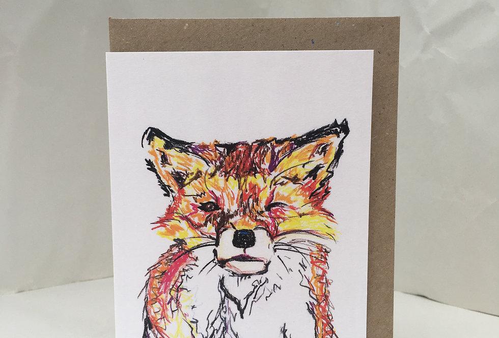 Greeting Card Fergus The Fox