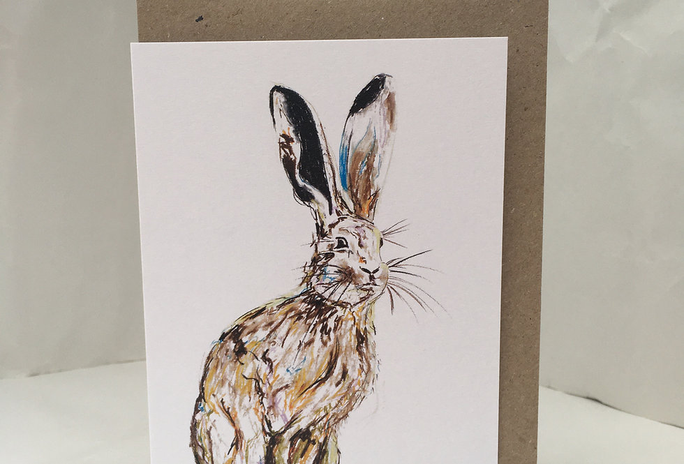 Greeting Card Hudsen The Hare