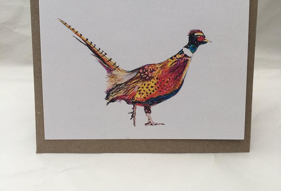 Greeting Card Philip The Pheasant