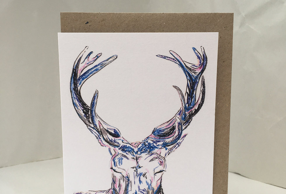 Greeting Card Serenity The Stag