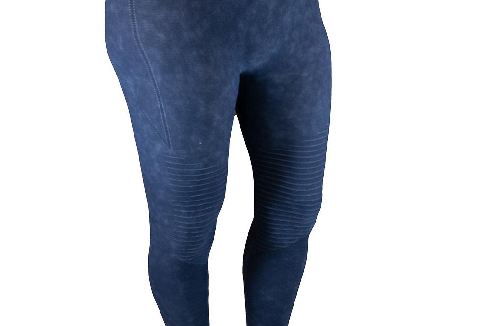 Blue Vintage Wash Leggings