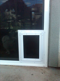 Built-in pet doors give you flexibility for your pets