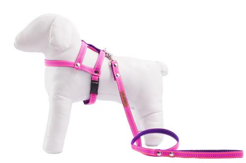 2916a89c3 Peitoral com Guia para Cachorro GR PET Duo Rosa