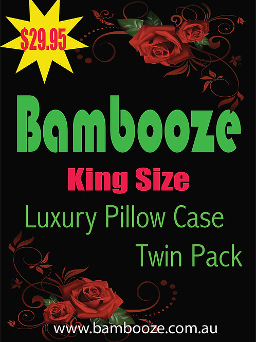King Pillow Case-Twin Pack