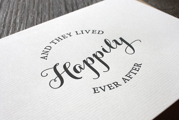 """""""Happily Ever After"""" Card - Black"""