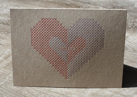 """""""I LOVE YOU"""" Card - No. 4"""
