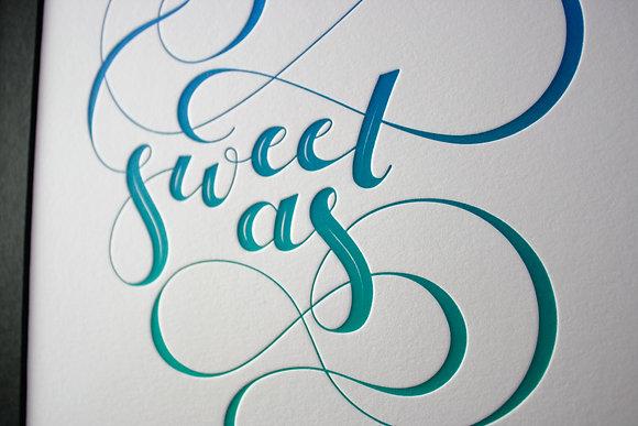 """""""Sweet As"""" Print"""