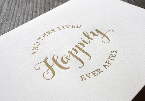 """""""Happily Ever After"""" Card - Gold"""