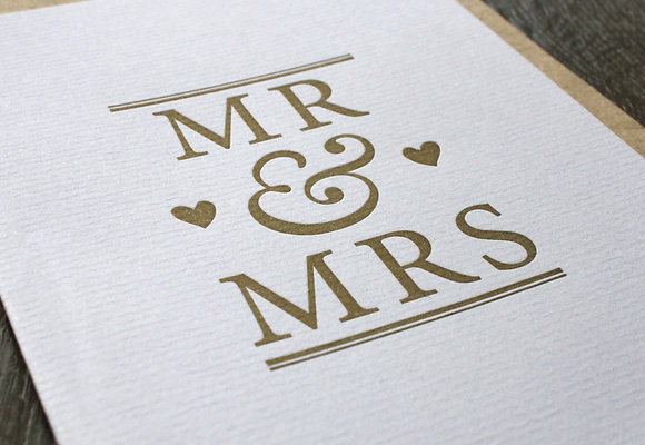 """MR & MRS"" Card - Gold"