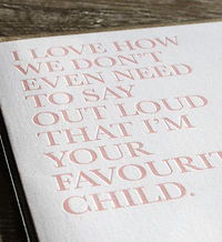 Letterpress Limited Edition Print