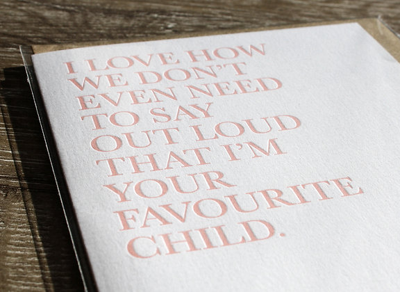 """I love how..."" Mother's Day Card"