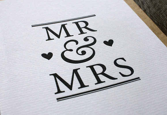 """MR & MRS"" Card - Black"