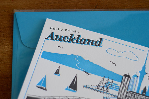 """Hello from... Auckland"" Card"