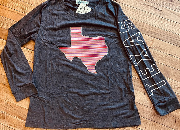 Pink Stripes Texas Long Sleeved Shirt