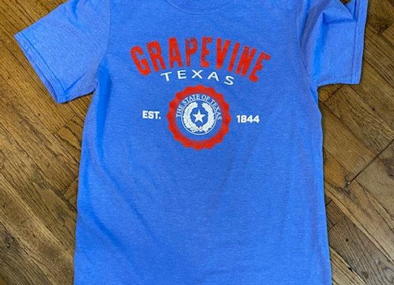 Grapevine Bright Blue TShirt