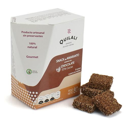 Snacks de Amaranto: Reventado con Chocolate, 53% Cacao