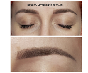 Healed Soft Powder Brows after first session